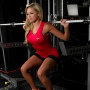 Barbell Squat with Safety Spotters